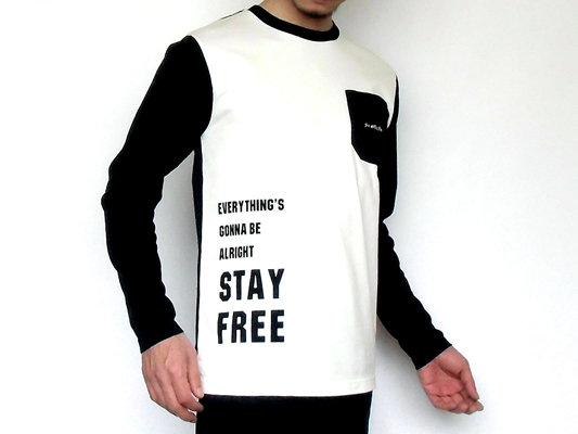 STAY FREE LONG SLEEVE POCKET T-SHIRT